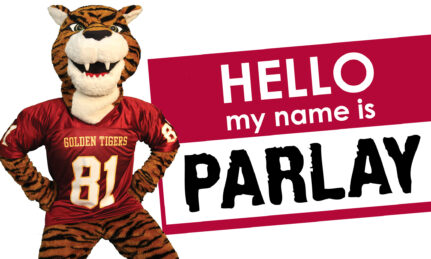 Tuskegee University tiger mascot standing by his new name